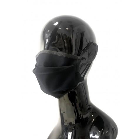 Črna maska za obraz za večkratno uporabo