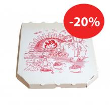 Karton za pizzo 36x36x4cm, 150 kos