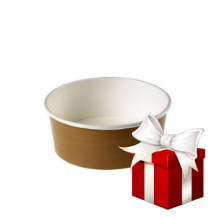 EMBALAŽA SALAD BOWL BROWN 750ML 24/1