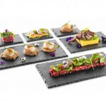 Lava Kamen - plošča za hrano 300x158 mm, 10 kosov
